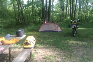 Camping in Paul Bunyan State Forest